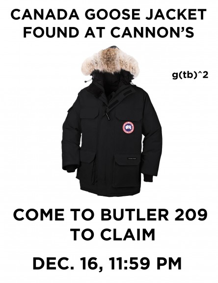 Canada Goose Jacket Found Orgo Night Poster From Fall 2015