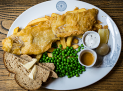 Traditional fish and chips: avoid if seen at JJ's
