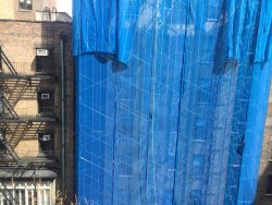 You Awake To Discover That Your Dorm Has Been Covered By Scaffolding